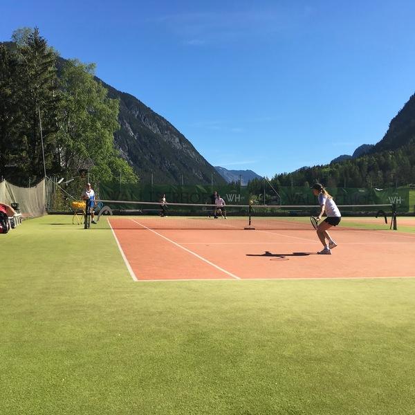 Tennistraining mit Profis